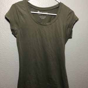 Deep Green Low-ish Neckline Tee